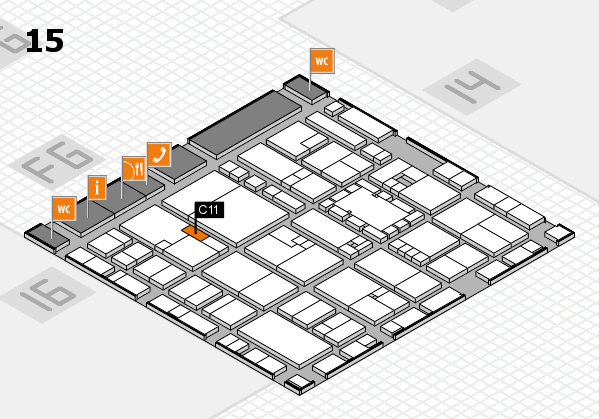 EuroShop 2017 hall map (Hall 15): stand C11