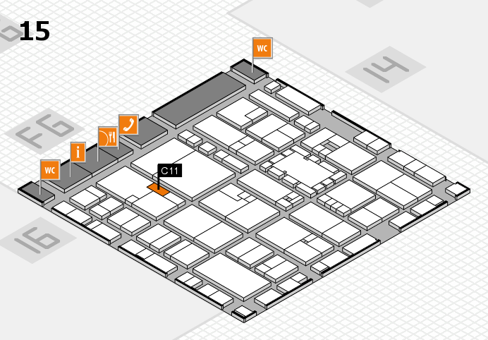 EuroShop 2017 hall map (Hall 15): stand C11