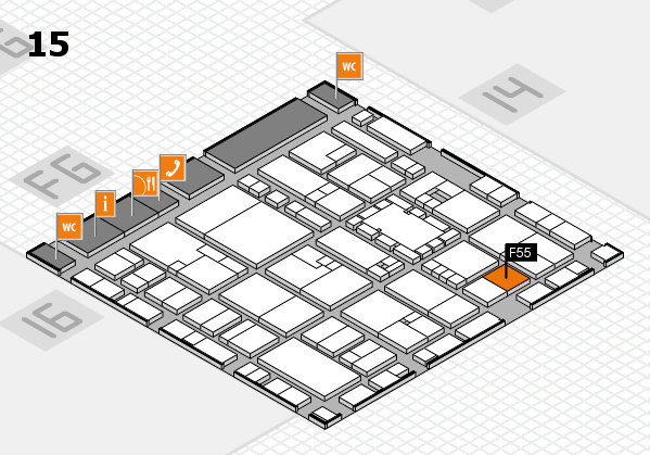 EuroShop 2017 hall map (Hall 15): stand F55