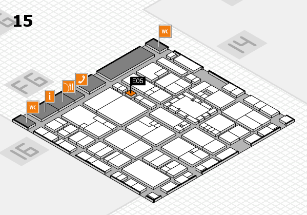 EuroShop 2017 hall map (Hall 15): stand E05