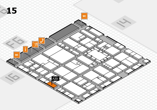 EuroShop 2017 hall map (Hall 15): stand A39
