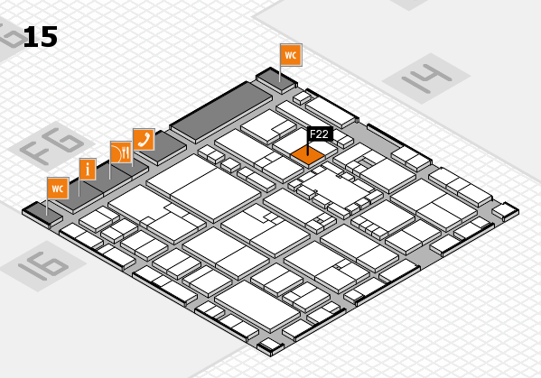 EuroShop 2017 hall map (Hall 15): stand F22