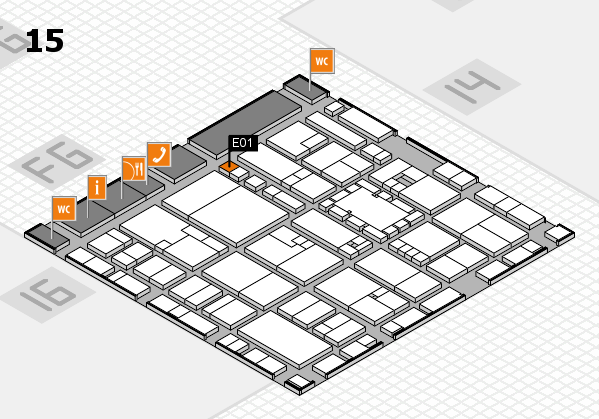 EuroShop 2017 hall map (Hall 15): stand E01