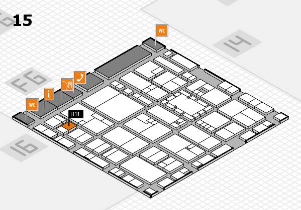 EuroShop 2017 hall map (Hall 15): stand B11