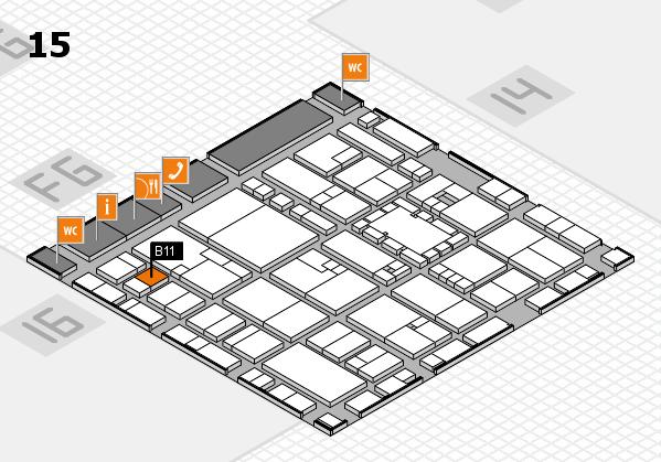 EuroShop 2017 hall map (Hall 15): stand B11