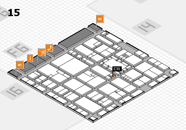 EuroShop 2017 hall map (Hall 15): stand E39