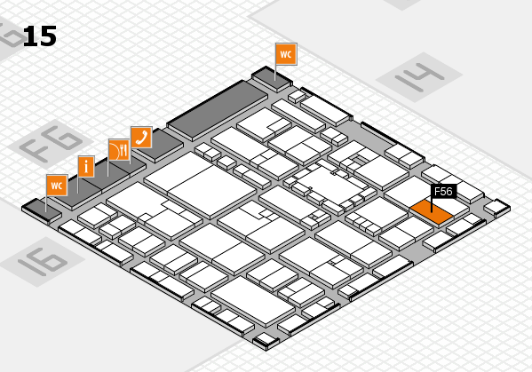 EuroShop 2017 hall map (Hall 15): stand F56
