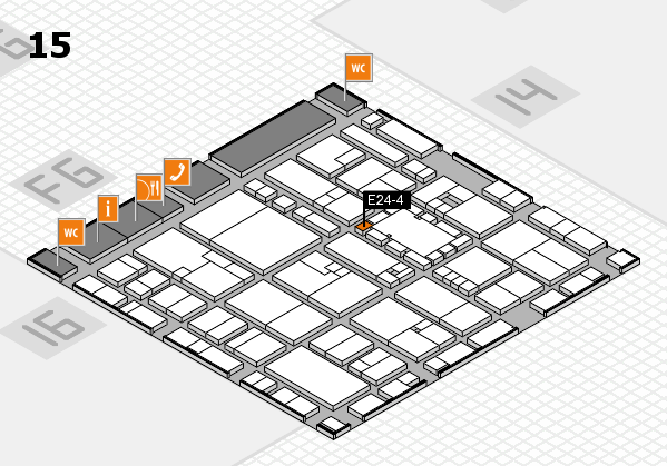 EuroShop 2017 hall map (Hall 15): stand E24-4