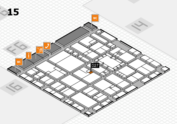 EuroShop 2017 hall map (Hall 15): stand D27