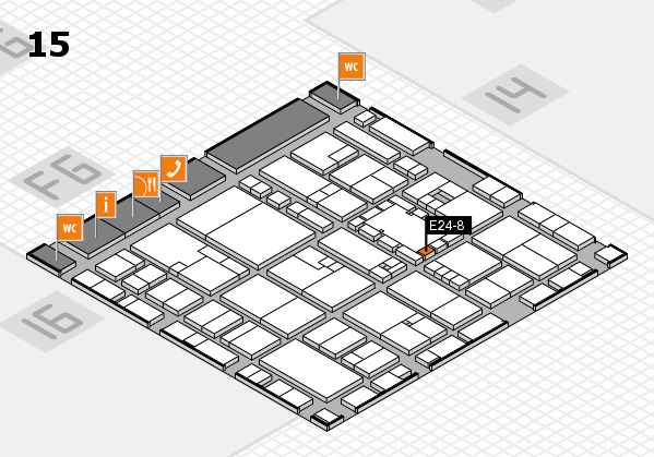 EuroShop 2017 hall map (Hall 15): stand E24-8