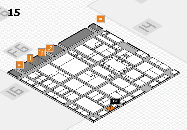 EuroShop 2017 hall map (Hall 15): stand B60