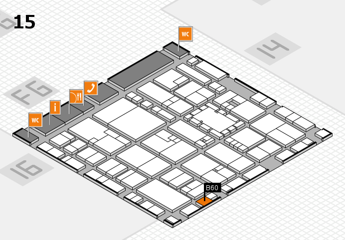 EuroShop 2017 hall map (Hall 15): stand B60