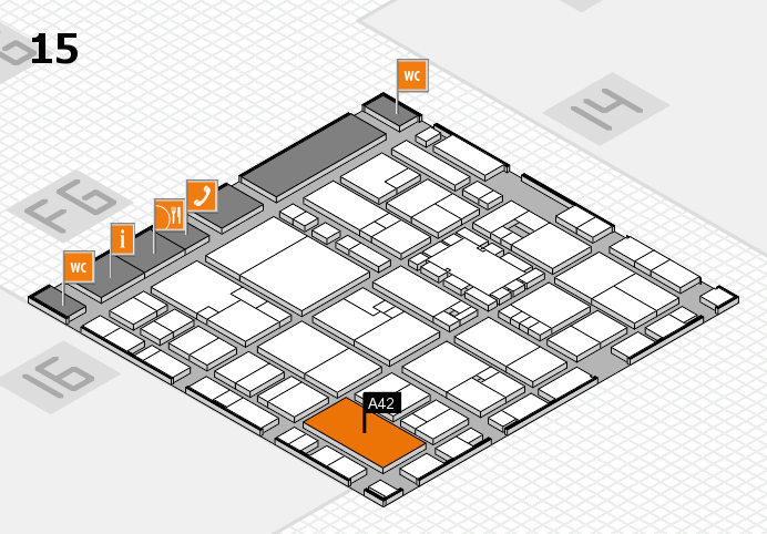 EuroShop 2017 hall map (Hall 15): stand A42