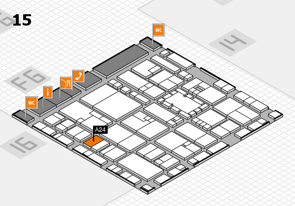 EuroShop 2017 hall map (Hall 15): stand A24