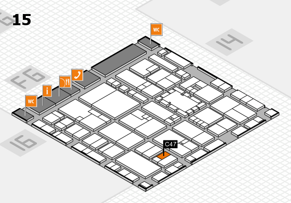 EuroShop 2017 hall map (Hall 15): stand C47