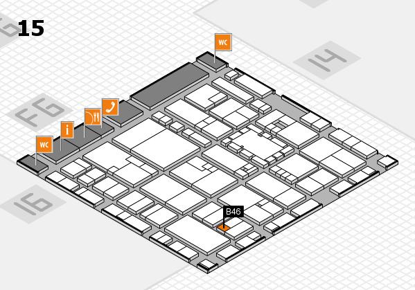 EuroShop 2017 hall map (Hall 15): stand B46