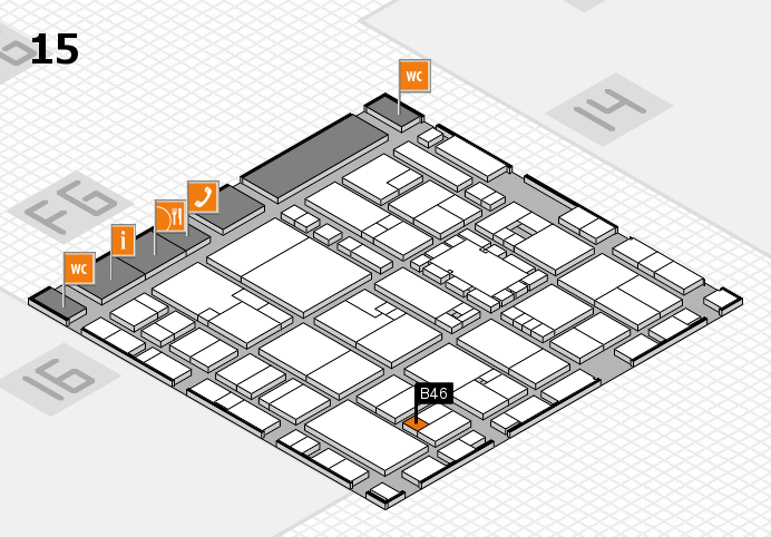 EuroShop 2017 hall map (Hall 15): stand B46