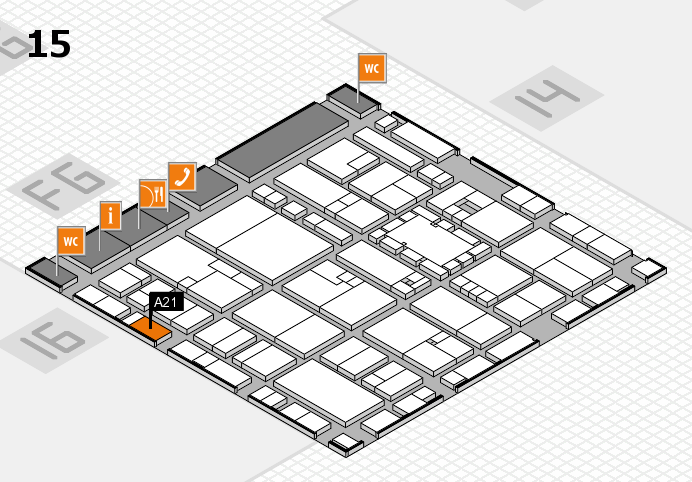 EuroShop 2017 hall map (Hall 15): stand A21