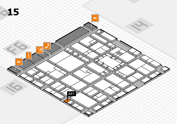EuroShop 2017 hall map (Hall 15): stand A41