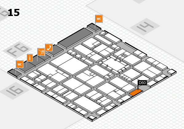 EuroShop 2017 hall map (Hall 15): stand D60