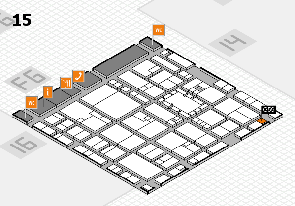 EuroShop 2017 hall map (Hall 15): stand G59
