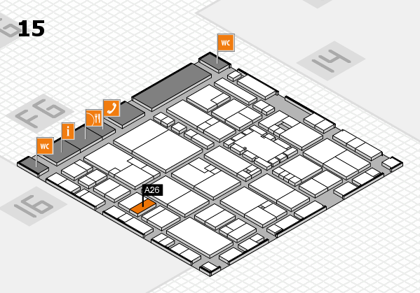 EuroShop 2017 hall map (Hall 15): stand A26