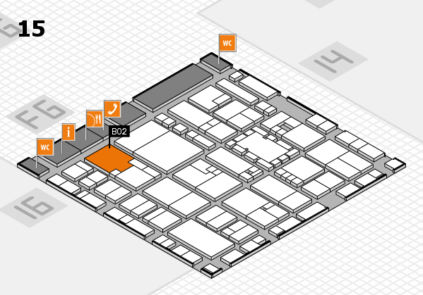 EuroShop 2017 hall map (Hall 15): stand B02