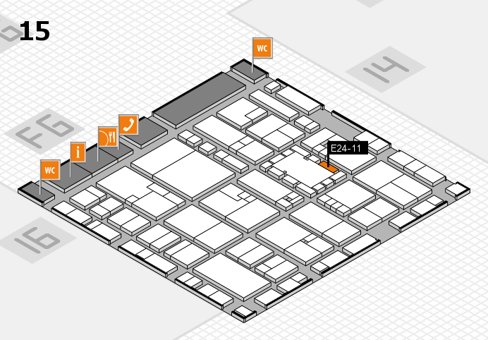 EuroShop 2017 hall map (Hall 15): stand E24-11