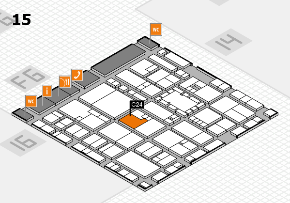 EuroShop 2017 hall map (Hall 15): stand C24