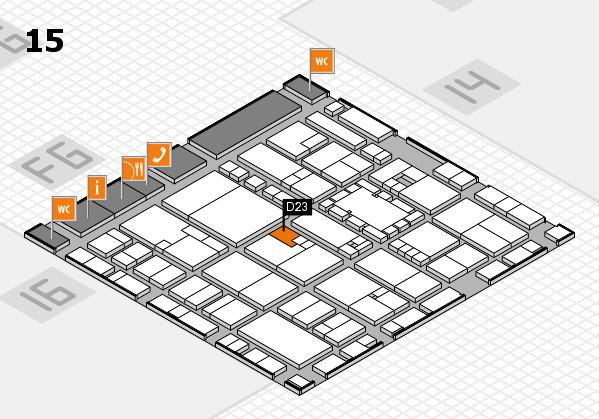 EuroShop 2017 hall map (Hall 15): stand D23