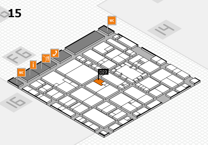 EuroShop 2017 hall map (Hall 15): stand D23