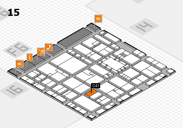 EuroShop 2017 hall map (Hall 15): stand C41