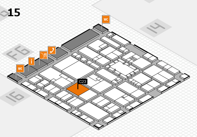 EuroShop 2017 hall map (Hall 15): stand C23