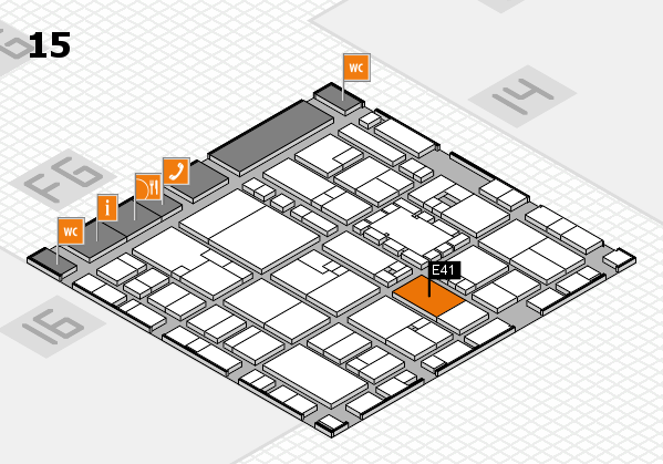 EuroShop 2017 hall map (Hall 15): stand E41