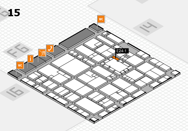 EuroShop 2017 hall map (Hall 15): stand E24-1