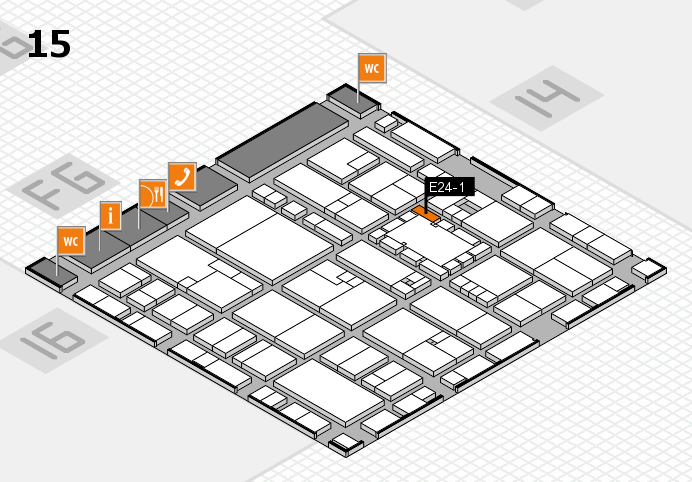 EuroShop 2017 hall map (Hall 15): stand E24-1