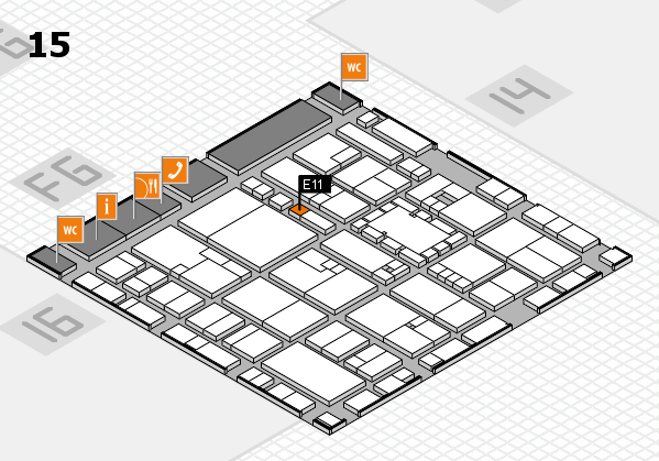 EuroShop 2017 hall map (Hall 15): stand E11