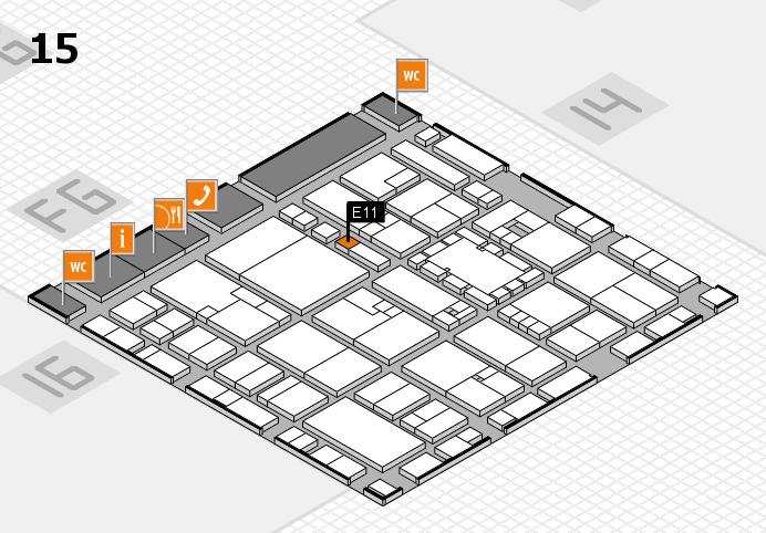EuroShop 2017 hall map (Hall 15): stand E11