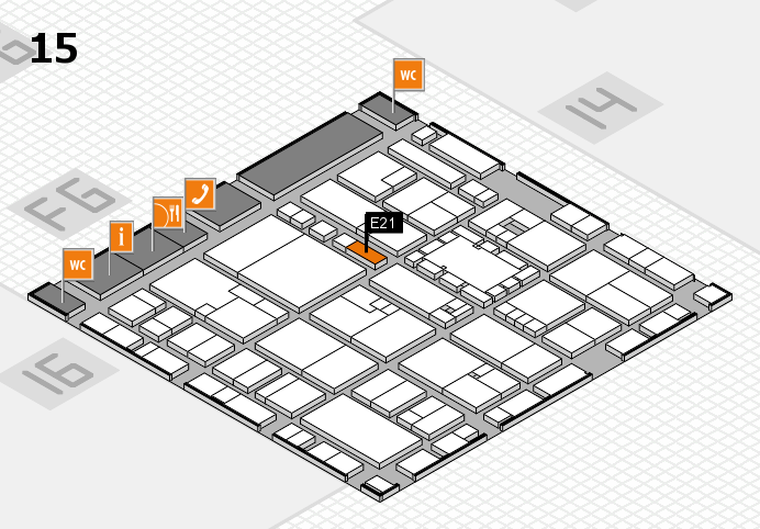 EuroShop 2017 hall map (Hall 15): stand E21