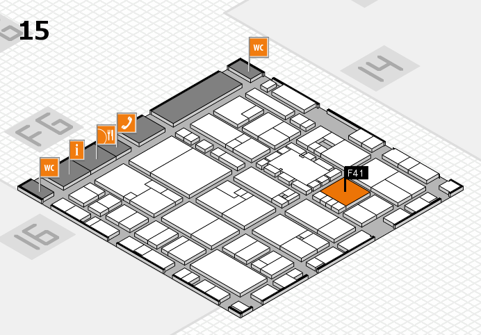 EuroShop 2017 hall map (Hall 15): stand F41
