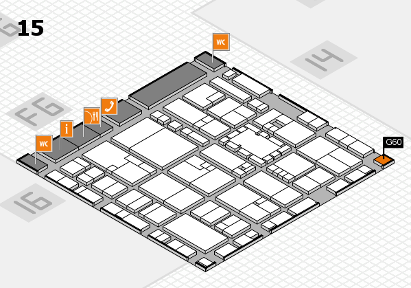 EuroShop 2017 hall map (Hall 15): stand G60