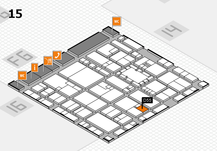 EuroShop 2017 hall map (Hall 15): stand D55