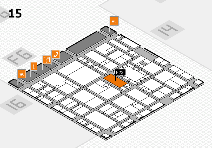 EuroShop 2017 hall map (Hall 15): stand E23
