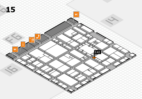 EuroShop 2017 hall map (Hall 15): stand E42