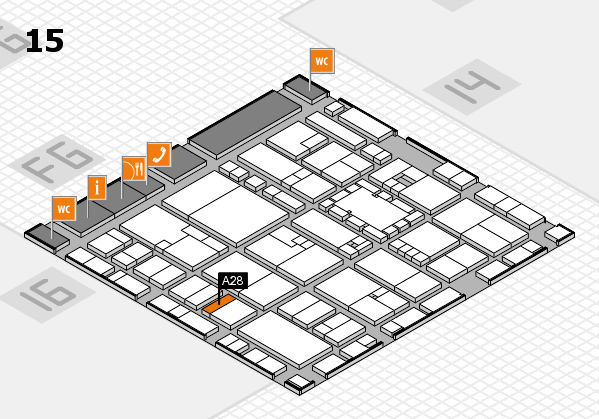 EuroShop 2017 hall map (Hall 15): stand A28