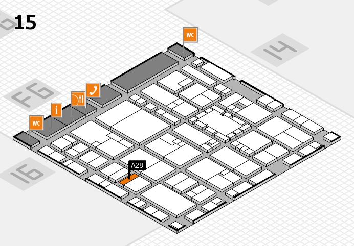 EuroShop 2017 hall map (Hall 15): stand A28