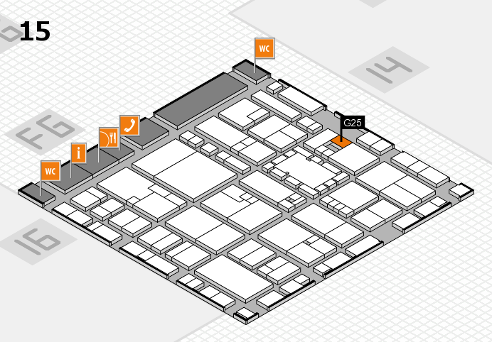 EuroShop 2017 hall map (Hall 15): stand G25