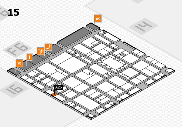 EuroShop 2017 hall map (Hall 15): stand A25