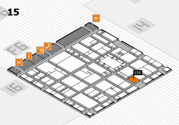 EuroShop 2017 hall map (Hall 15): stand E56