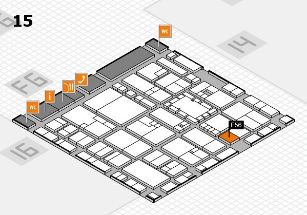 EuroShop 2017 hall map (Hall 15): stand E56